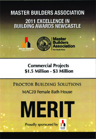 2011 MBA Merit - Commercial Projects $1.5-3m